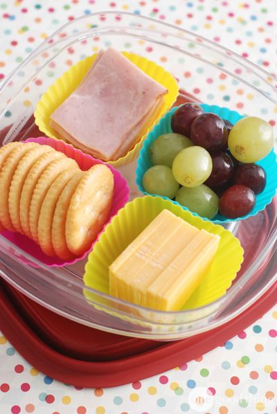 Silicone Cupcake Liners as Food Dividers for Picky Eaters