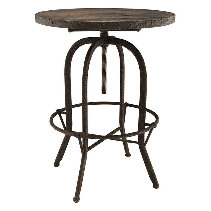 Modway Gather 5 Piece Round Pub Table Set - EEI-1608-BRN-SET