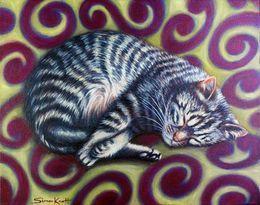 Tabby Cat Swirl Pattern by simon-knott-fine-artist at zippi.co.uk