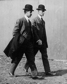 The Wright brothers, Orville (August 19, 1871 – January 30, 1948) and Wilbur (April 16, 1867 – May 30, 1912), were two Americans credited with inventing and building the world's first successful airplane and making the first controlled, powered and sustained heavier-than-air human flight, on December 17, 1903