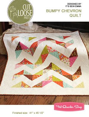 Bumpy Chevron Quilt Pattern Cut Loose Press, It's Sew Emma #CLPISE007