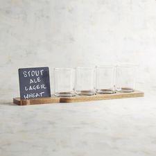 Beer Flight Set Of 4 Glasses With Slate Board $34.95 #affiliate