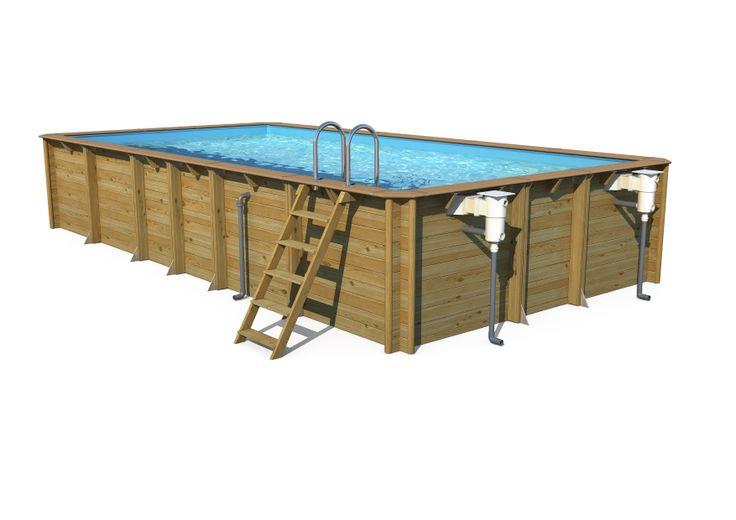 Houten zwembaden in vele afmetingen
