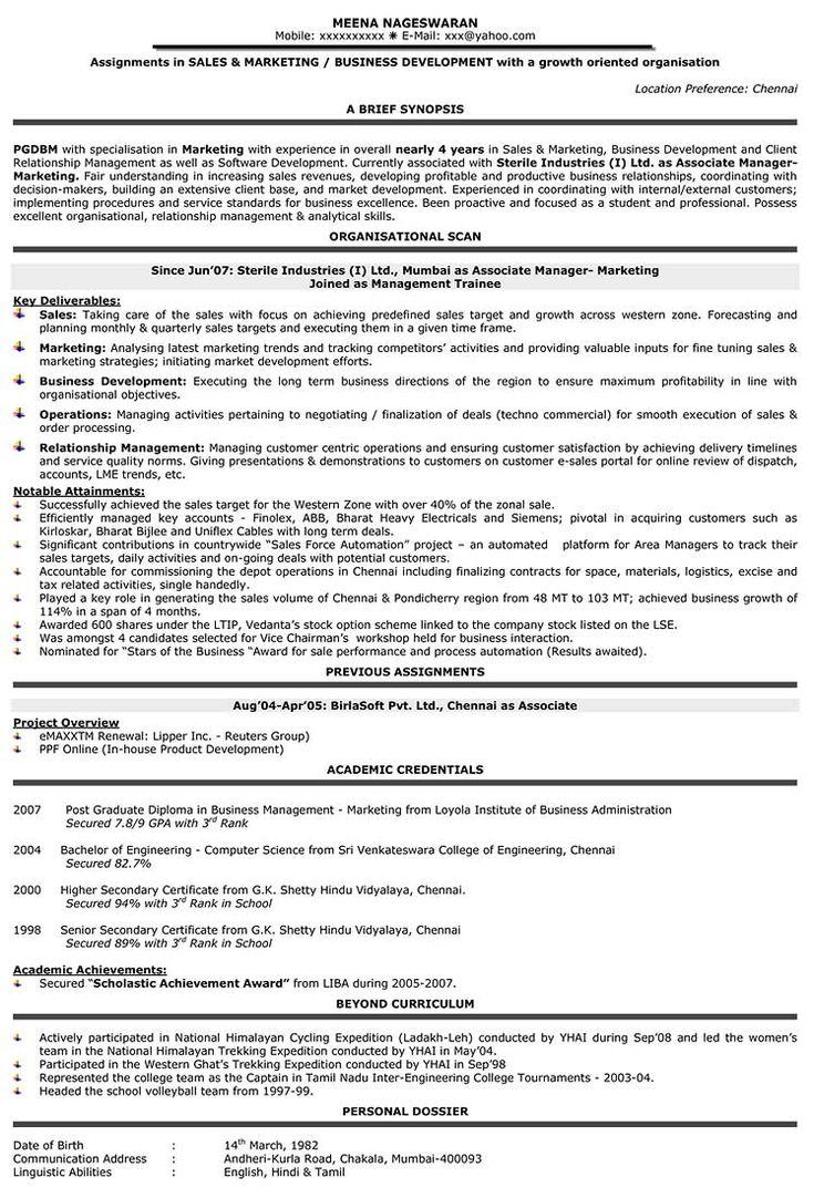 Sales Resume Samples b Sales resume, Resume objective