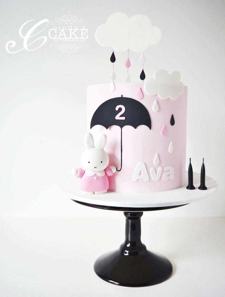 cute tall skinny my melody rain shower cake