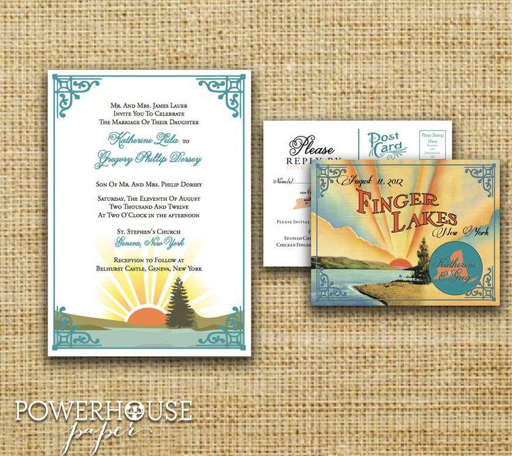 Finger Lakes Wedding Invitation. $3.75, via Etsy.