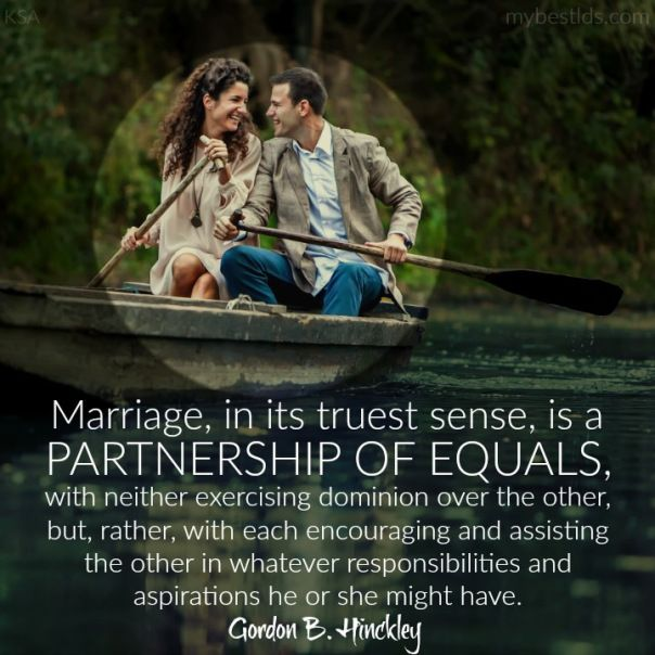 Marriage is a Partnership of Equals quote