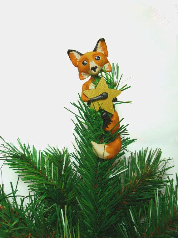 Custom Fox Christmas Tree Topper by LittleBerties on Etsy ...