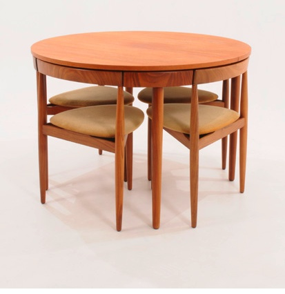 Hans Olsen Compact Dining Table U0026 Chairs