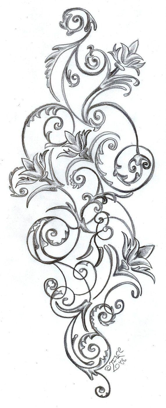 Flowers ornamentation Design by *2Face-Tattoo on deviantART