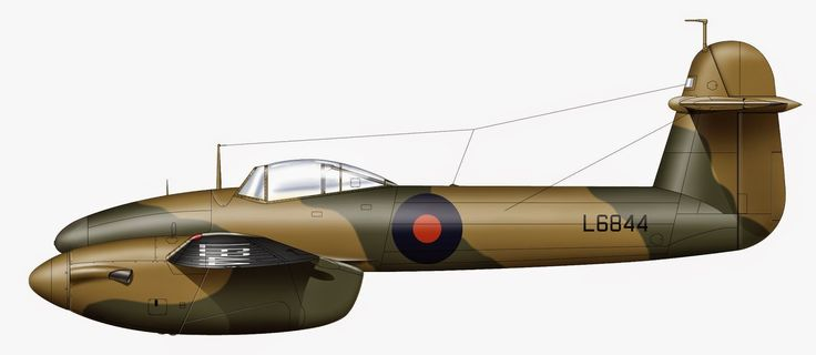L6844  First Prototype Whirlwind delivered to RAE 31st of December 1938, she then went through several technical units arriving at 263 Squadron at Colerne on the 13th of April 1942 eventually arriving at 4 School of Technical Training at RAF St Athan as 3063M ,Copyright Richard J Caruana