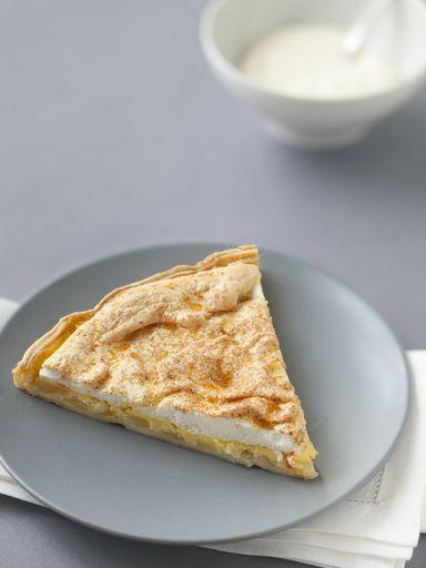 Tarte meringuée aux pommes et aux poires : Recette de Tarte meringuée aux pommes et aux poires - Marmiton