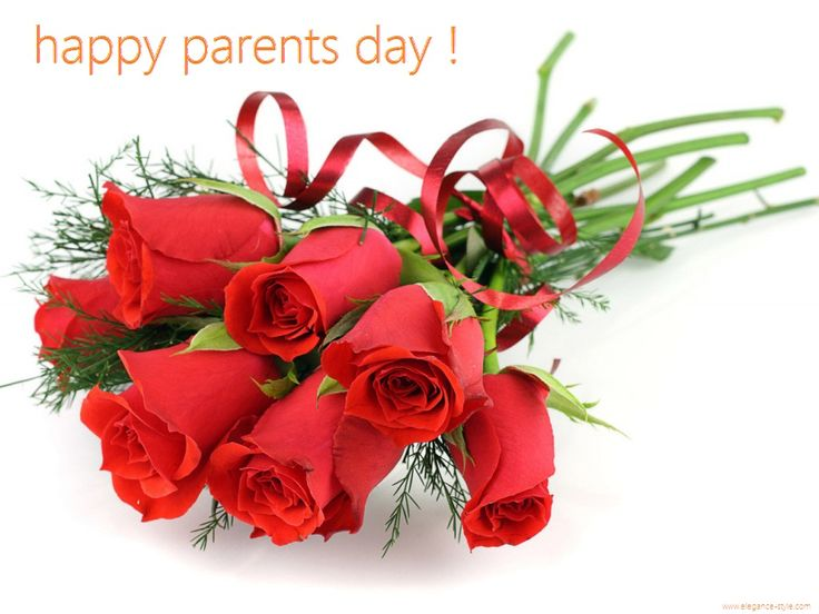 happy parents day 2014 wallpapers sms quots wishes and sayings - beautiful good lookinf flowers and roses red and green elegance and style happy parents day white background cool