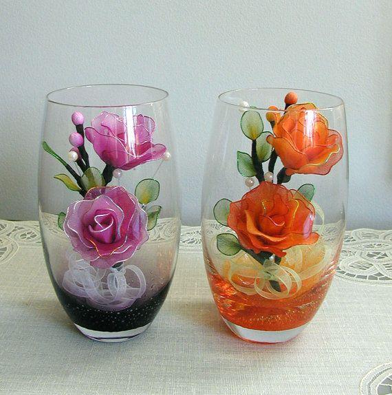 Handmade Nylon Flowers Arrangement in the Colorfull от LiYunFlora