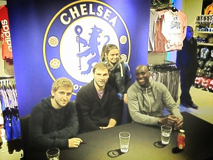 Demba Ba:  Good signing session @ the kingston cfc store with iva and marko marin