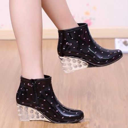 2013 Spring  fashion high heel rain boots leopard rubber lady water shoes R02026 $31.63 - 33.89