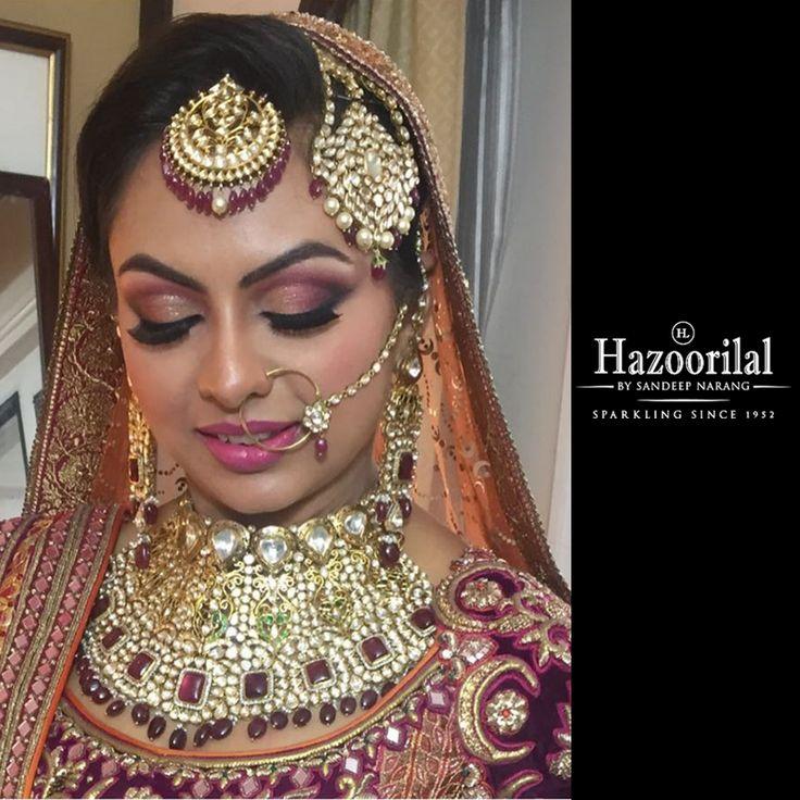 Brides & more from the House of #HazoorilalBySandeepNarang  #BridesHazoorilalBySandeepNarang #BridalJewellery #Rubies #Polki #Passa #MaangTikka #ClientDiaries #ItcMaurya #DlfEmporio #HazoorilalJewellers
