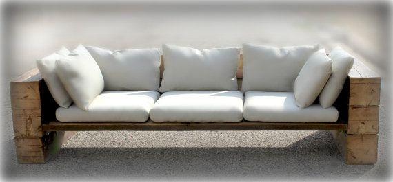 Rustikales Sofa Couch Schnitt aufgearbeiteten Holz von DendroCo