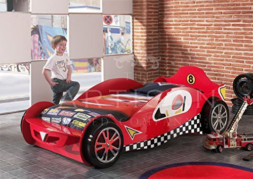 Simple Childrens Car Beds Boys Red Racing Kids Car Bed Frame Majestic Furnishings http