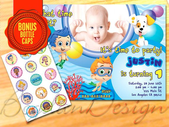 Bubble Guppies Invitation Bubble Guppies printable by BogdanDesign