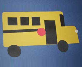 Shape School Bus Craft