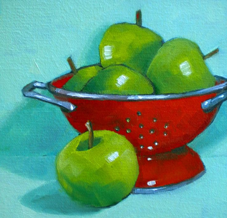 painting | analogous plus one complement (y-g, g, b-g + r) or split complementary (y-g, b-g + r) | Darla McDowell