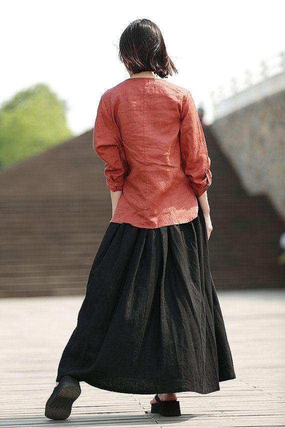 Черное белье макси длинная юбка C331 по YL1dress на Etsy