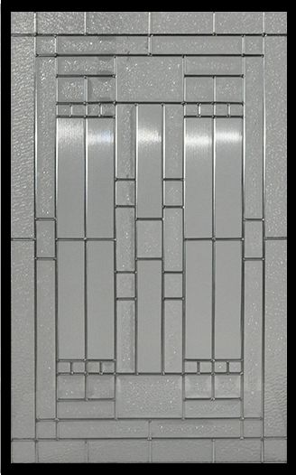 Stained Glass Door Inserts - Waterfall 22x36 Zinc
