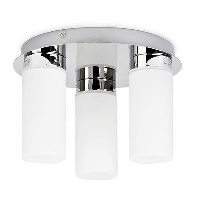 #Modern chrome & #frosted glass ip44 bathroom ceiling spot light #fittings lights,  View more on the LINK: 	http://www.zeppy.io/product/gb/2/381257887250/