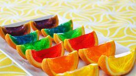 Rainbow Gelatin Orange Wedges