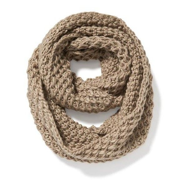 Old Navy Womens Honeycomb Stitch Infinity Scarf found on Polyvore featuring accessories, scarves, brown, honey comb, infinity scarves, thick infinity scarves, loop scarf and old navy