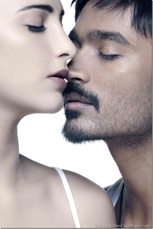 Tamil actor Dhanush (with Shruthi Hassan)