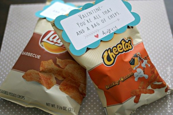 Bag of Chips - Valentine you're all that and a BAG OF CHIPS