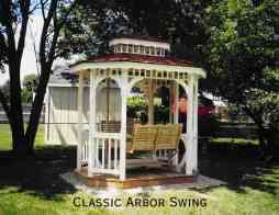 """""""Victorian Gazebo with Swing PLANS"""""""