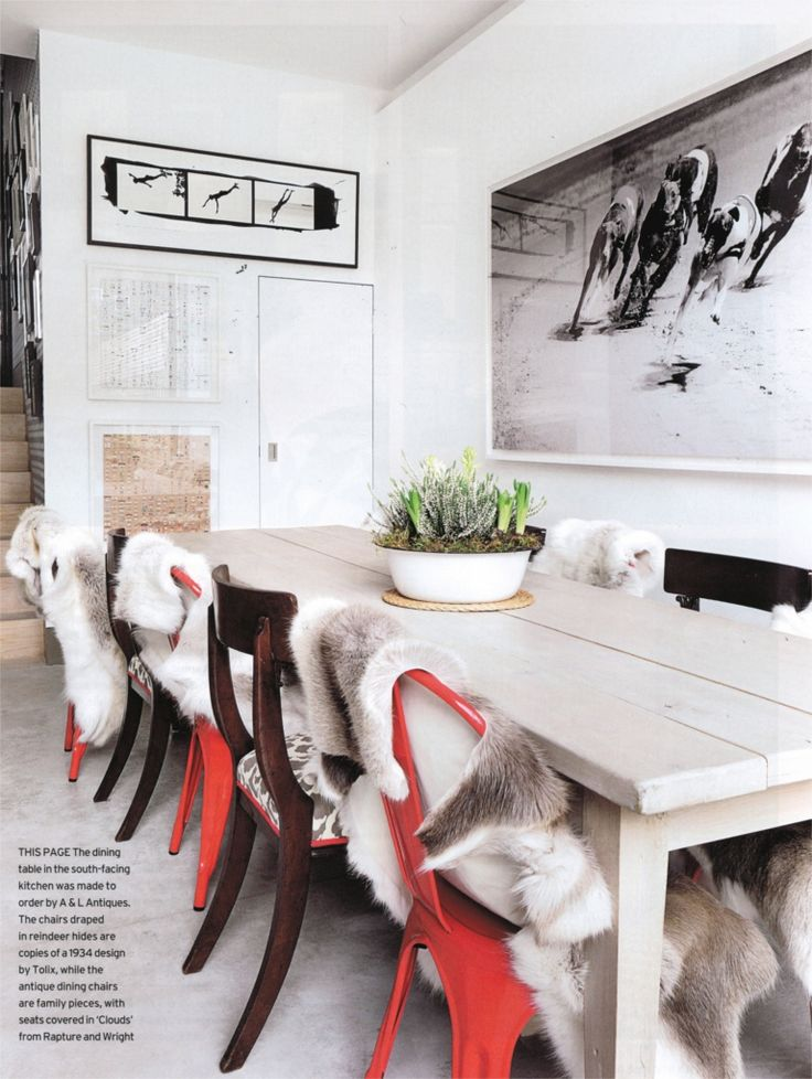 live breathe decor dining area / simple and long white farmhouse table/ maybe for 12?