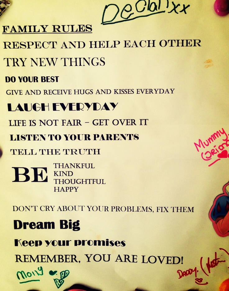 Our new house rules, inspired by previous pinners :)