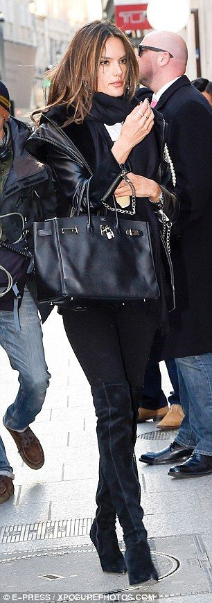 Model moment: Victoria's Secret star Alessandra Ambrosio made a fashionable impression...