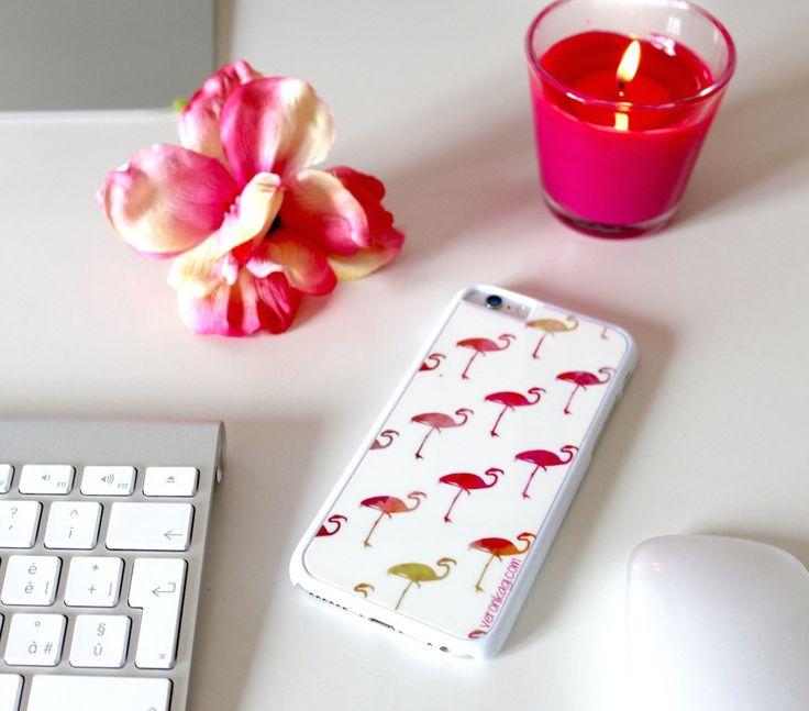 PhotoSì-Phone-6s-cover-personalizzate-cellulare-cactus-fenicotteri-rosa