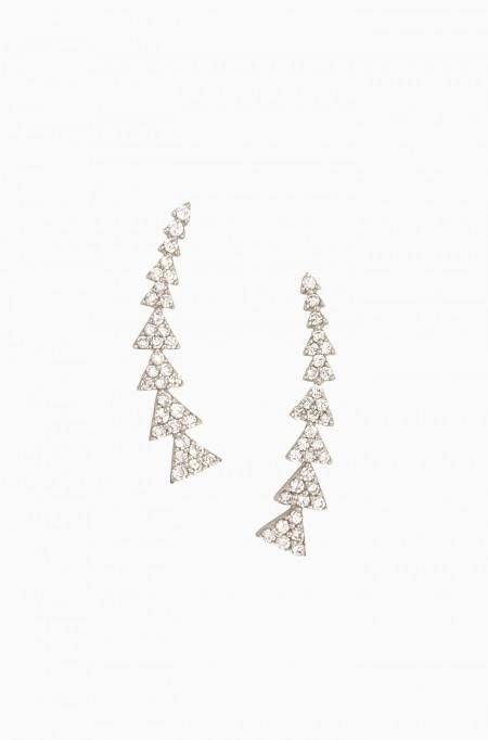 Check out the hottest jewelry trend - silver ear climbers, or silver earrings…
