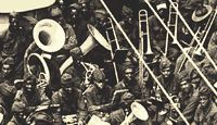 During World War I many black troops were eager to fight but most provided support services. Only a small percentage were actually involved in combat.
