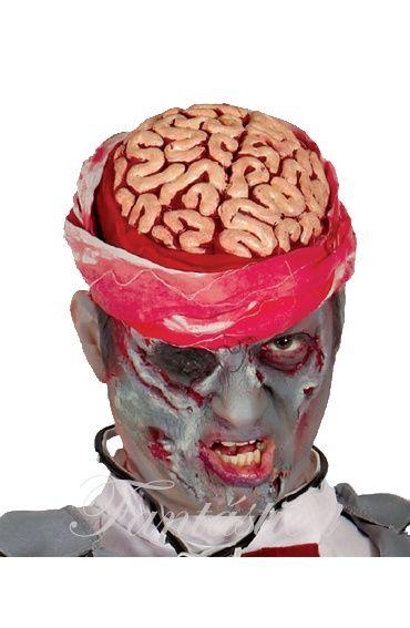 Máscara Zombie Descerebrado para Disfraz de Halloween