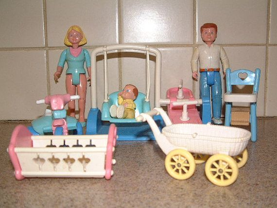 Vintage fisher price loving family doll house furniture for What is considered antique