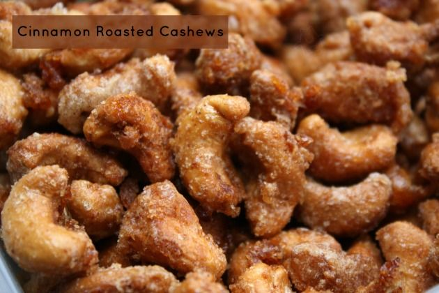 Cinnamon Roasted Cashews #Recipe #snack