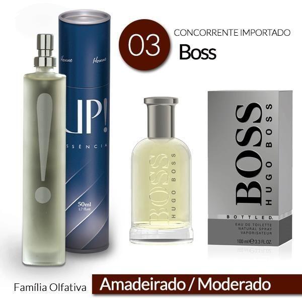 PERFUMES IMPORTADOS HUGO BOSS: A fragrância marcante do perfume Hugo Boss é para homens modernos, descolados, que gostam de marcar presença e adoram notados. Com uma nova embalagem formalizada pela UP!, você consegue este produto por um preço super acessível. Confira em nosso website!