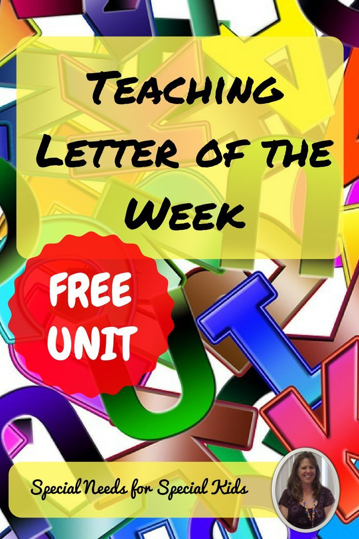 If you teach in a special education classroom, check out this blog post!  It has great tips on teaching the letter of the week to students with autism and special learning needs.  Plus, grab a FREE 100+ page unit to try!!