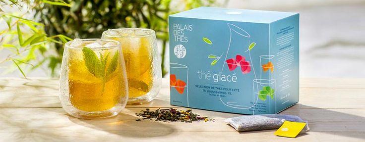 Sélection de thés glacés pour l'été - 16 mousselines XL