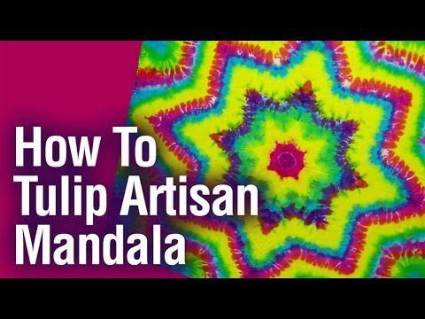 DIY How to Tie Dye Rainbow Diagonal Fan Fold Shirt [Short Tutorial] - YouTube
