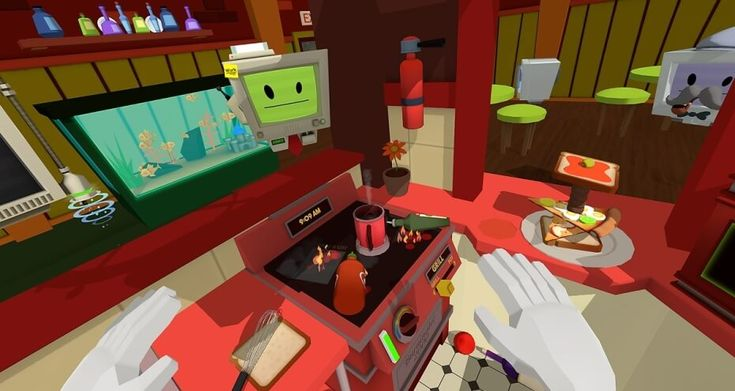 Job Simulator is a launch title on the HTC Vive.