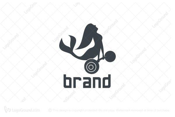 Mermaid Gym Logo Gym Logo Women Fitness Logo Cool Logo