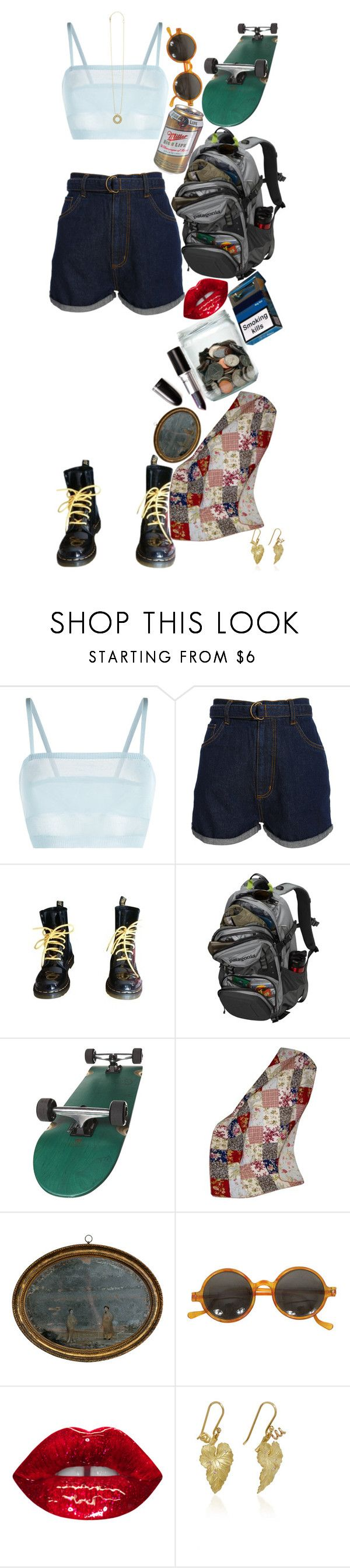"""Sans titre #650"" by lucileking ❤ liked on Polyvore featuring La Perla, Cheap Monday, Dr. Martens, Patagonia, Greenland Home and Lagos"